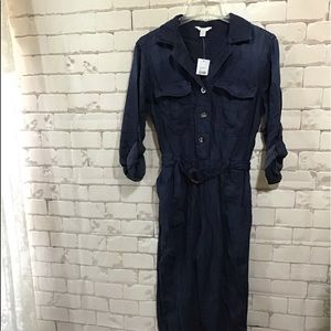 NWT Cato Overall Pantsuit Sz Small Denim